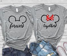 Disney engagement shirts, Disney honeymoon shirts, Disney couple shirts,Disney anniversary, Disney m Matching Disney Shirts, Matching Couple Shirts, Disney Couples, Disney Shirts For Family, His And Hers Disney Shirts, Disney Family, Matching Couples, Disneyland Outfits, Disneyland Shirts