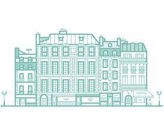 Parisian buildings - Animated by lucas marinm