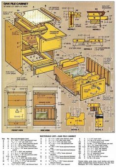 file cabinet plans - furniture plans and projects | woodarchivist