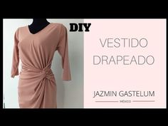 Como Hacer Un Vestido Drapedo Jazmin Gastelum // How To Make a Draped Dress - YouTube Diy Vestido, Churidar Neck Designs, Fashion Courses, Draped Dress, Dress Sewing Patterns, Learn To Sew, Formal Dresses, Outfits, Instagram