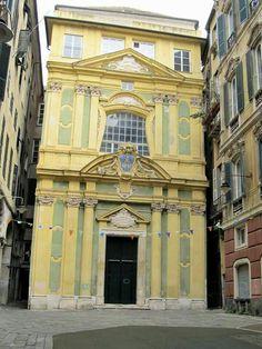 Church of the Santissimo Nome di Maria (near San Lorenzo Cathedral). Genova. Italy