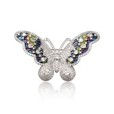 Sweet Zircon Butterfly Brooch
