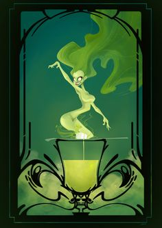 street art green fairy | Green Fairy by Caelys-illustrations