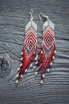 Huichol Hand Beaded Earrings