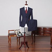 Today's Hot Pick :75518 No.62 Three Piece Wool Navy Suit http://fashionstylep.com/SFSELFAA0012878/stylehommeen1/out This three-piece navy suit has been cut from a beautiful wool blend cloth for an understated sense of style. The classic, slim-fitting cut will work anywhere from the boardroom to a formal event. Suit Jacket - Two button front closure - Slim fit - Peak lapels - Long sleeves - Lined Waistcoat - V neckline - Front button closure - Slim fit - Double breasted - Sleeveless - Lined…