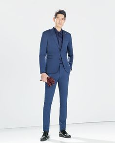 Zara Men's Suit Dark Blue
