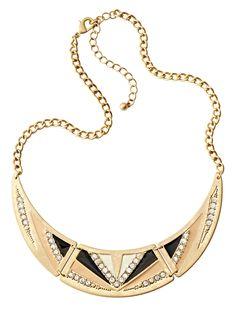 trend: art deco - collar necklace.  Great pick Brandi