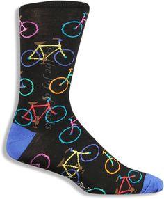 The Joy of Socks - Bright Bikes Socks (Men's), $10.50 (http://www.joyofsocks.com/bright-bikes-socks-mens/)