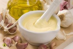 "All I Oli-Meaning ""garlic and oil"", is a garlic mayonnaise that makes a great dip for Patatas, Calamari or to serve with dishes like Fideuà. All i oli is the Catalan spelling of this traditionally Catalan sauce Garlic Aioli, Garlic Sauce, Garlic Minced, Lower Cholesterol Naturally, Cholesterol Lowering Foods, Cholesterol Symptoms, Cholesterol Levels, Free Printable Grocery Coupons, Sausages"