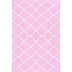 Hand Hooked Lattice Pink/ White Rug (2u00278 X 4u00278) By The Rug Market