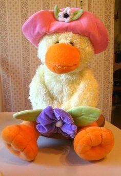 Gund Yellow Duck Stuffed Animal Plush Hat Nursery Rhyme 19 inch  #GUND