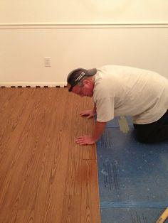 putting in laminate flooring