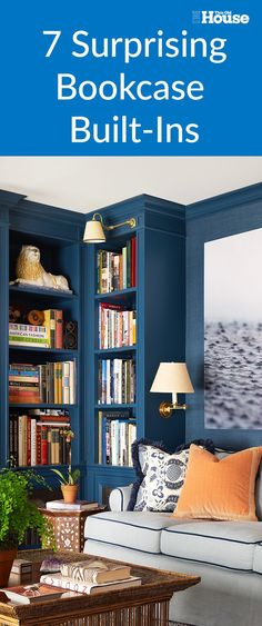 7 Surprising Built In Bookcase Designs