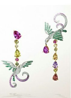 13ct-925-Sterling-Silver-inspired-Brid-multi-colour-Women-party-earrings-Cz-Gift