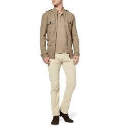 6d7fc861d19b Bottega Veneta Washed Nappa Leather Safari Jacket