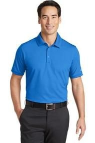 NIKE GOLF DRI-FIT SOLID ICON PIQUE MODERN FIT POLO-  Add your logo at UnitedTeamSports.com; Mens blue polo, fully customizable