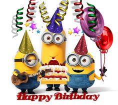 Happy birthday Minions --- http://Feliz cumple mi niño hermoso,  Que Dios te llene de bendiciones y que este día tengas mucho amor,  alegría,  besos y abrazos  TE QUIERO MUCHISIMO, FELICIDADES. ----- …