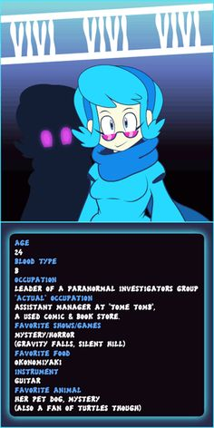 Mystery Skull Ghosts *Character Card- Vivi