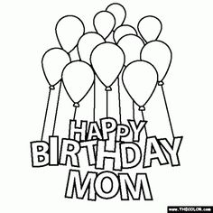 58 Best Happy Birthday coloring Pages images   Birthday ...