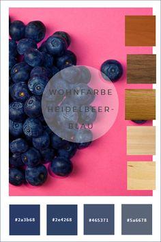 Farbkonzepte: Wände in Heidelbeerblau