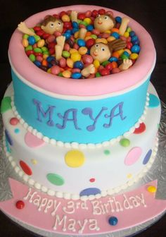 "LOVE this ""ball pit"" cake"