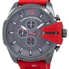"Diesel Mega Chief Timeframes ""Only The Brave"" Chronograph Quartz DZ4427 Men's Watch"