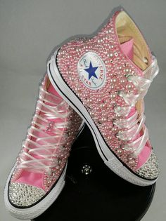 Items similar to Wedding Converse- Bridal Sneakers- Bling & Pearls Custom Converse Sneakers- Bridal Chuck Taylors- Wedding Sneakers- Converse hochzeit- Bride on Etsy Converse All Star, Diy Converse, Bridal Converse, Custom Converse, Converse Sneakers, Custom Shoes, Custom Sneakers, Bling Shoes, Fancy Shoes