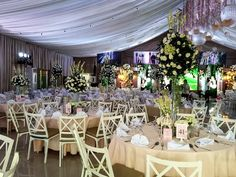 Dream Events Place by Hiz-Son Events Place, Weddings, Table Decorations, Country, Garden, Home Decor, Garten, Decoration Home, Rural Area
