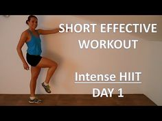 Short But Effective Workout Series 1 – Day 1 – Insane HIIT Workout Boosting Your Metabolism - YouTube