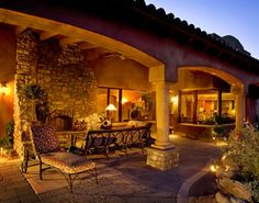 Tuscan Home Interior Design Ideas. This is my dream home. Rustic Italian, Italian Home, Tuscan House Plans, Tuscan Style Homes, Mediterranean Home Decor, Tuscan Decorating, Interior Decorating, Outdoor Living, Outdoor Decor