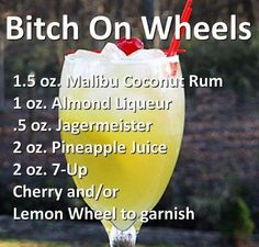Bitch on wheels cocktail