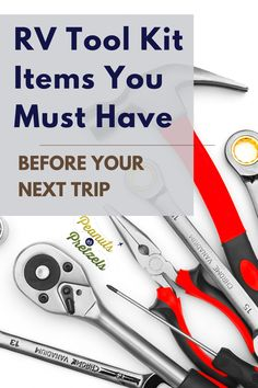 It's really important that you have your RV tool kit prepped and ready to go at all times because you never know what potential issues might come up during RV travel. The last thing you want during your relaxing vacation is to be stuck on the side of the road, trying to flag down people just to ask to borrow a simple wrench. So from our experience, here are some items that you should make sure to have in your RV tool kit. Rv Travel, Travel Advice, Family Travel, Travel Tips, Travel Destinations, Road Trip Planner, Travel Planner, Travel Pictures, Travel Photos