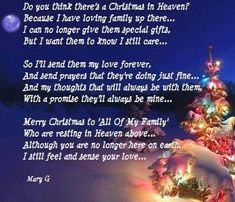 Christmas in Heaven miss you family quotes heaven in memory christmas christmas quotes christmas quote christmas quotes about losing loved ones christmas in heaven quotes christmas in memory quotes Miss My Mom, Miss You, Christmas Quotes, Christmas Time, Xmas Poems, Cozy Christmas, Blue Christmas, Christmas Crafts