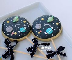 Space Decorated Cookies on stick | Cookie Connection