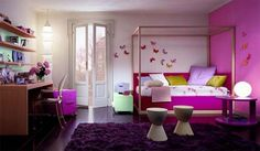 little girls paris inspired bedrooms | Purple Girl Bedroom by Dearkids 11 Purple Girl Bedroom Ideas for Girly ...
