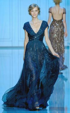 Dark Blue Beaded Gown - Reminds me of a starry winter's night