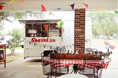 country fair carnival party with shaved ice station!