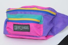 Vintage 90s East Sport Multi Colored Fanny Pack