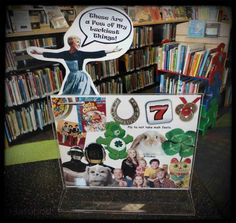 My quirky-fun sign for our Main Library's main display for March. It could be…