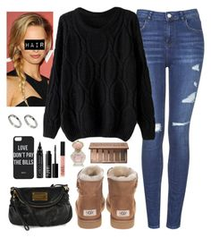 """""""Girl's Night Out"""" by noellexox ❤ liked on Polyvore featuring UGG Australia, Topshop, Marc by Marc Jacobs, Dimepiece, ASOS, Urban Decay, CARGO and NARS Cosmetics"""