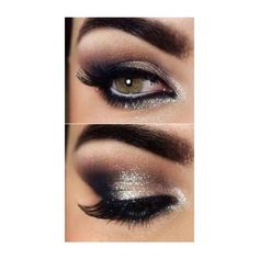 (1) Gorgeous eye makeup: gold and black, matches my dress for new... ❤ liked on Polyvore featuring beauty products, makeup, eye makeup, eyes, beauty and maquiagem