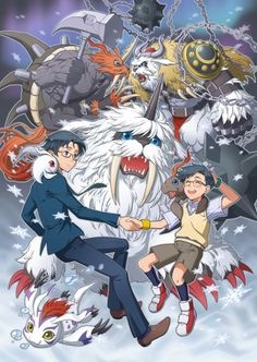 Digimon - Joe with Gomamon's Digivolutions by eclosion