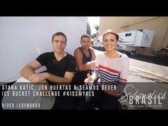 Stana Katic, Jon Huertas & Seamus Dever Ice Bucket Challenge on Castle set