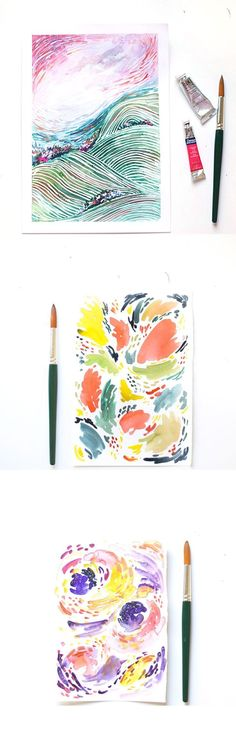 Abstract watercolor illustration-Inkstruck Studio