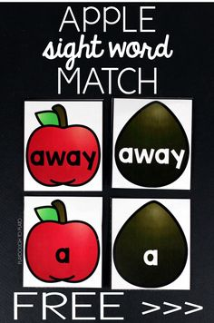 Match the apple to the good seed to practice sight word recognition! A fun, free fall activity for literacy centers with kindergarten and first grade students! Sight Word Centers, Sight Word Games, Sight Word Activities, Reading Activities, Reading Skills, Guided Reading, Apple Activities, Autumn Activities For Kids, Kindergarten Freebies