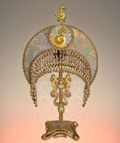 Beaded Victorian Lampshades and Antique Lamps