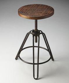 Another great find on #zulily! Dark Brown Adjustable Bar Stool #zulilyfinds
