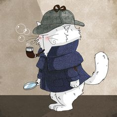 Le Chat Sherlock Mrou / cat Sherlock Meow