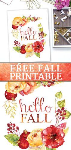 Hello Fall free printable from Perennial Joy