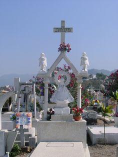 Beautiful cemetery in Puerto Vallarta, Mexico.